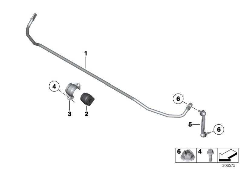Stabilisator hinten D=13MM          1er 3er  (33556853474)
