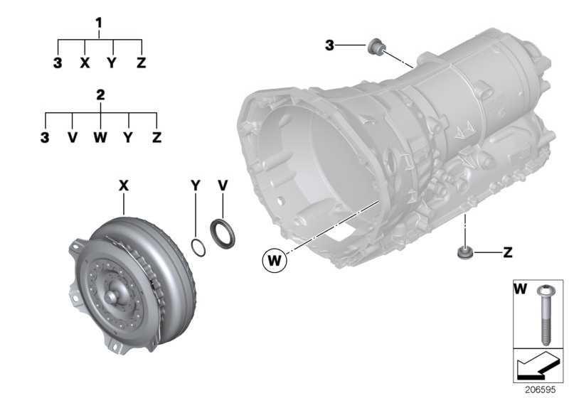 Reparatursatz Drehmomentwandler  X3 X1  (24408632163)