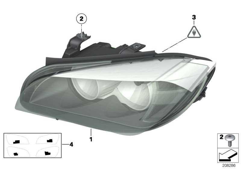 Scheinwerfer rechts  X1  (63117290234)