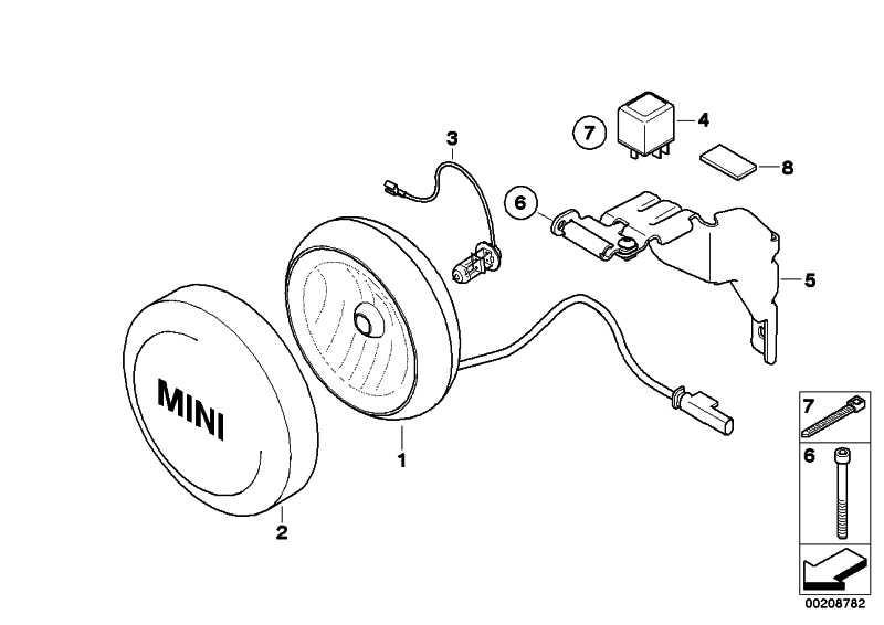 Zusatzscheinwerfer CHROM           MINI  (63127239412)