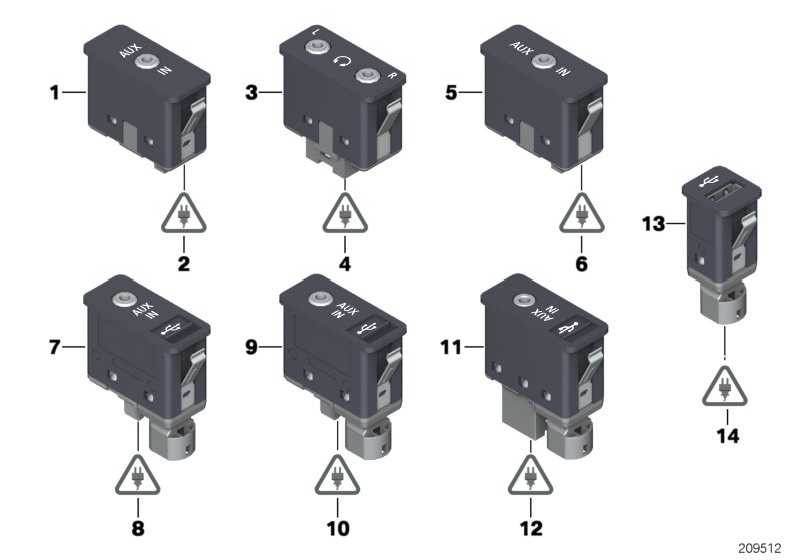 USB/AUX-IN Buchse  1er 3er 5er 6er 7er X1 X3 X5 X6 Z4  (84109237653)