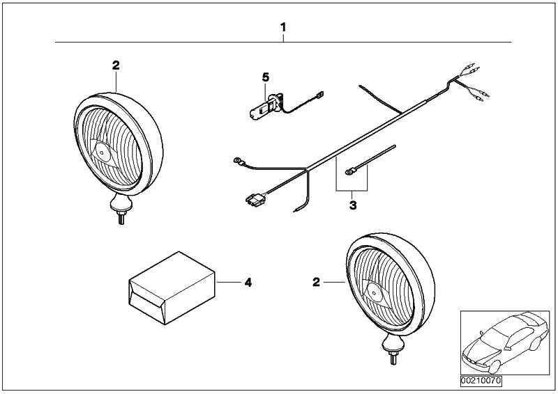 Nachrüstsatz Fernscheinwerfer  MINI  (63120137301)
