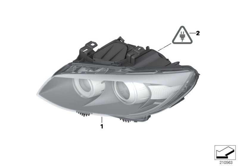 Scheinwerfer AHL-Xenonlicht links  3er  (63117273211)