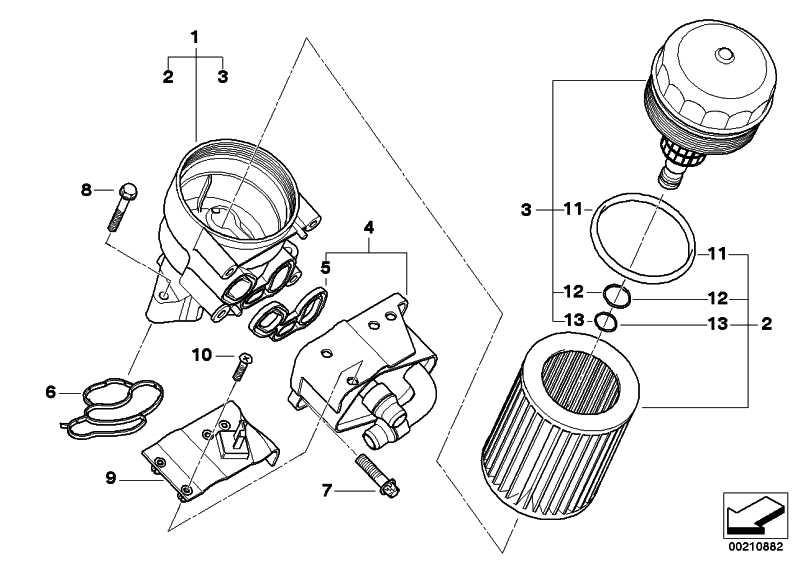 Ölfilter mit Kunststoffdeckel  1er 3er 5er X1 X3 Z4  (11427508966)