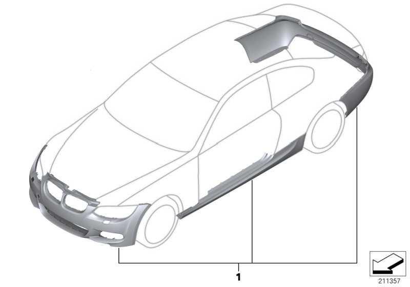 Nachrüstsatz M Aerodynamikpaket GRUNDIERT       3er  (51952166182)