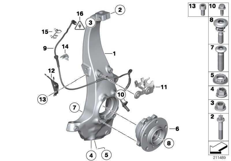 Bundschraube mit Druckfeder M16X1,5X72-8.8  1er 2er 3er 4er 5er 6er 7er X1 X3 X4  (31206795249)