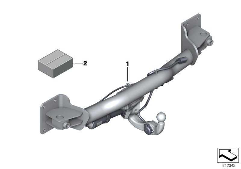 Anhängerkupplung elektrisch schwenkbar  X5 X6  (71606865776)