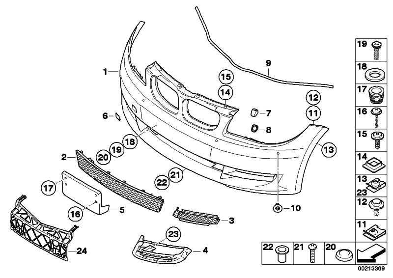 Verkleidung Stossfänger grundiert vorn SRA+PDC         1er  (51117209154)