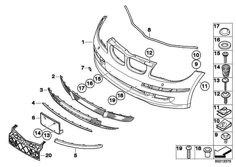 Verkleidung Stossfänger vo.oben lackiert CODE - UNI/MET. 1er  (51110029500)
