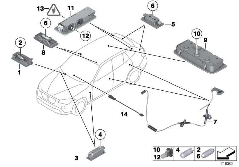 LED Modul Mittelkonsole  1er 3er X1  (63319242162)