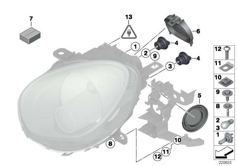 Befestigungselement Scheinwerfer M6              MINI  (63122752224)