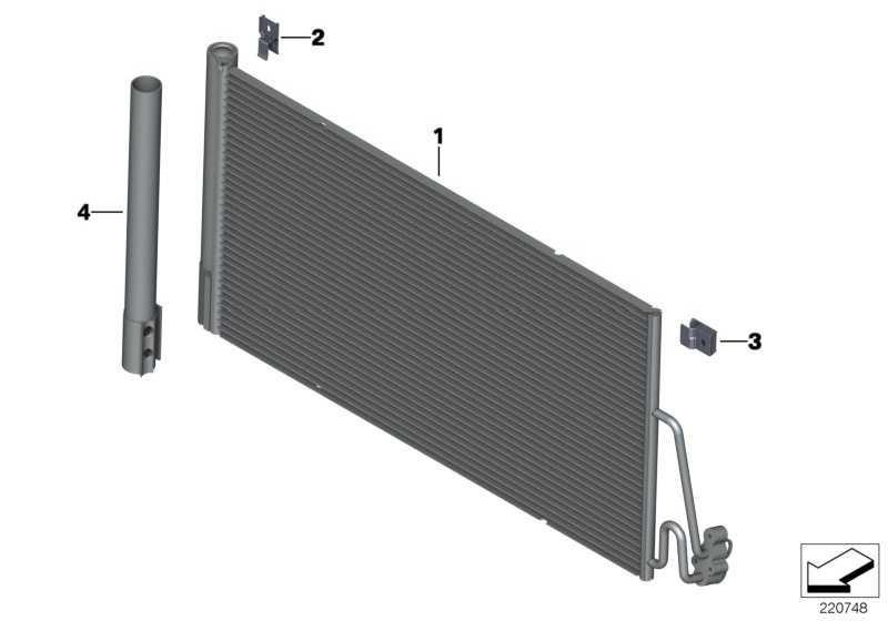 Kondensator Klimaanlage mit Trockner  MINI  (64539239920)