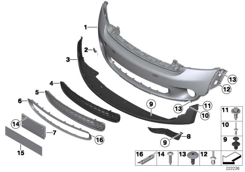 Rahmen Kühlergrill unten CHROM           MINI  (51119804005)