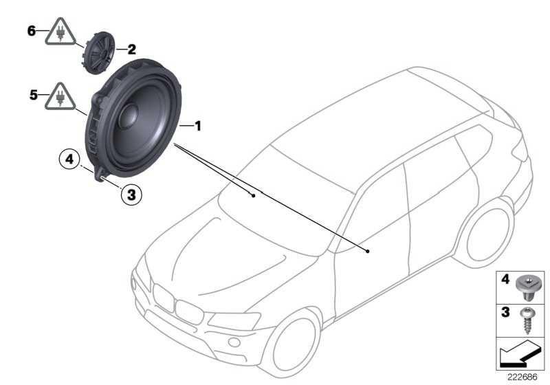 Mitteltonlautsprecher Stereo  1er 2er 3er 4er X3  (65139288769)