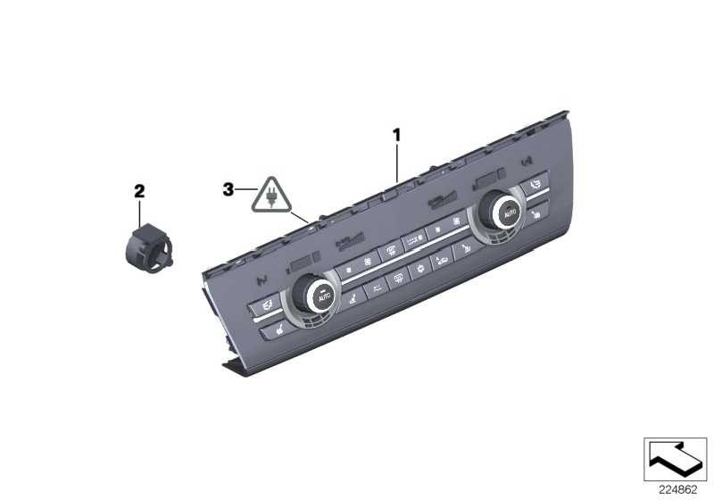 Rep.-Satz Radio- und Klimabedienteil  5er  (61319328426)