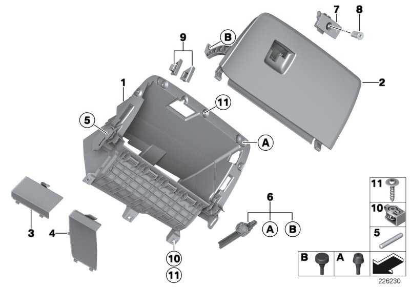 Deckel Handschuhkasten SCHWARZ X3 X4  (51169242086)