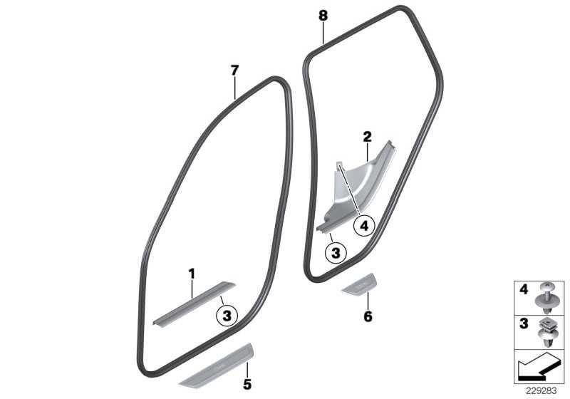 Blende Einstieg hinten BMW             X3  (51477205611)
