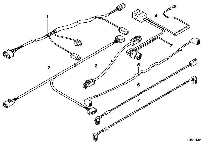 Verbindungsleitung USB/HUB L= 3550MM       5er  (61119137935)