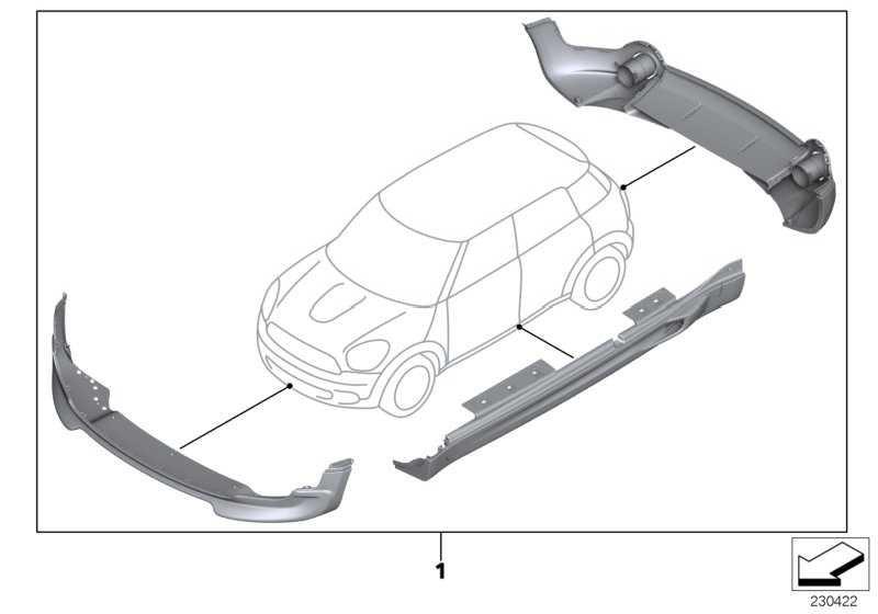 Aerodynamikpaket grundiert  MINI  (51192180855)