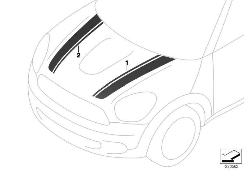 Zierstreifen schwarz links  MINI  (51149807175)
