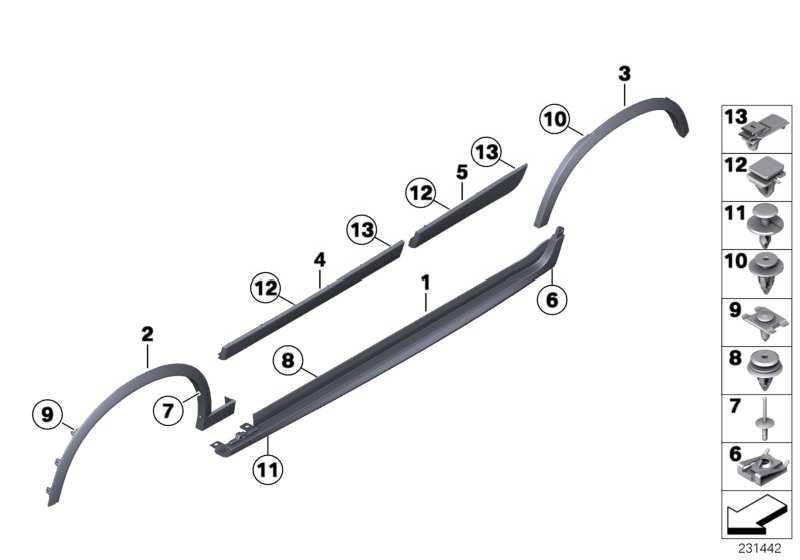 Abdeckung Schweller grundiert rechts M-PAKET         X3  (51778052076)