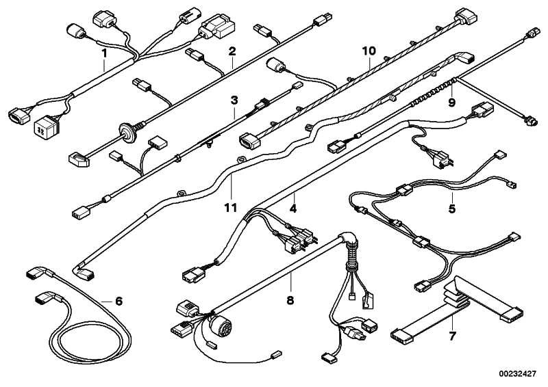Kabelsatz  6er  (61129122284)