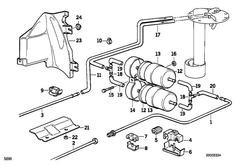 Kraftstoffvorlaufleitung  8er  (16121180335)