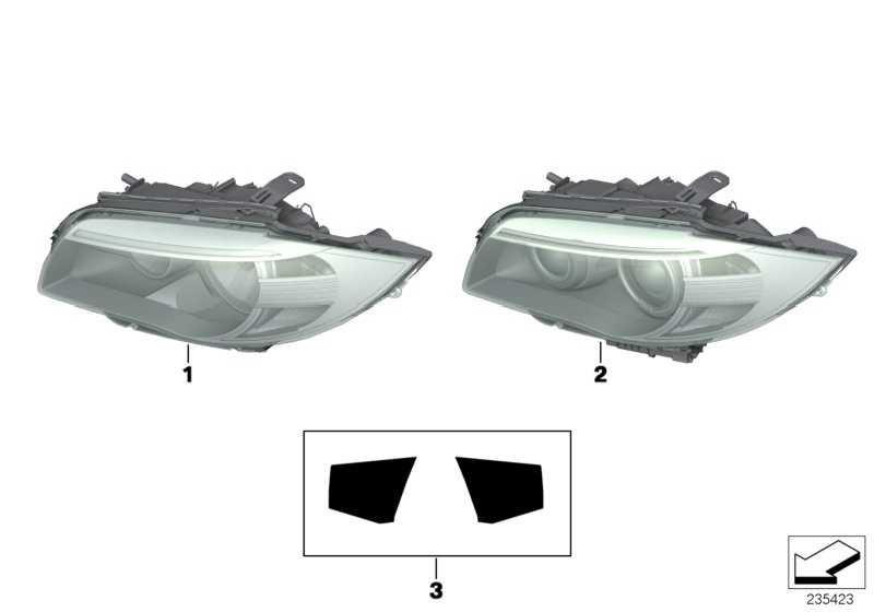 Scheinwerfer Bi-Xenonlicht rechts  1er  (63117273834)