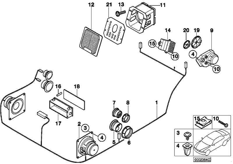 Blende Subwoofer Top-Hifi-System HARMAN KARDON   3er  (65138377949)
