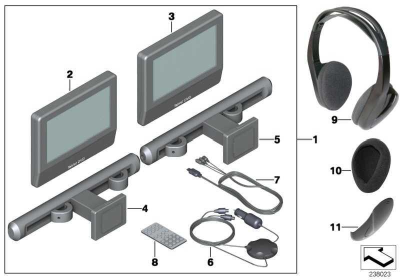 Kabel DVD TABLET 1er 3er 5er 6er 7er X1 X3 X5 X6 MINI  (65122166593)