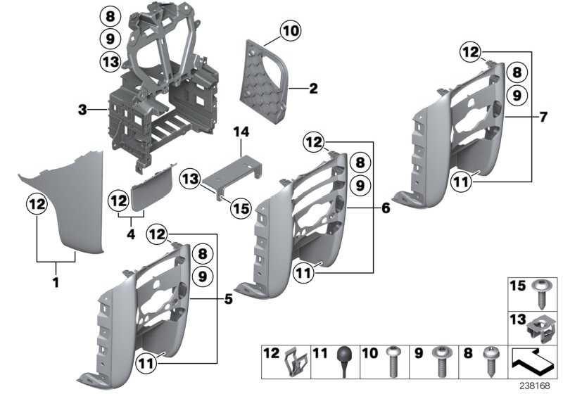 Verkleidung Mittelkonsole rechts  MINI  (51452752774)
