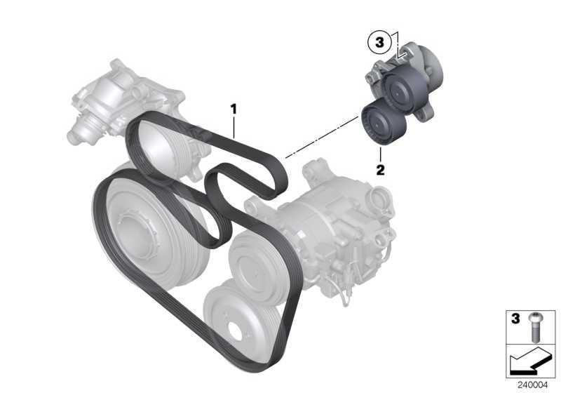 Riemenspanner mechanisch  3er 5er 6er 7er X1 X5 X6  (11287823199)