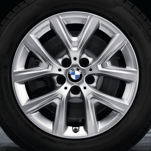 BMW Winterkompletträder Y-Speiche 574 silber 17 Zoll X1 F48 RDCi