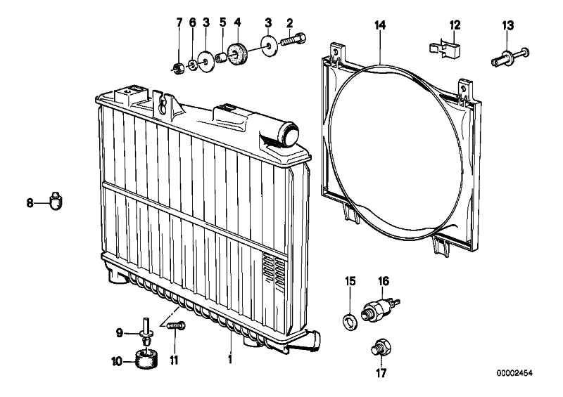 Kühlmittelkühler  3er  (17111707563)