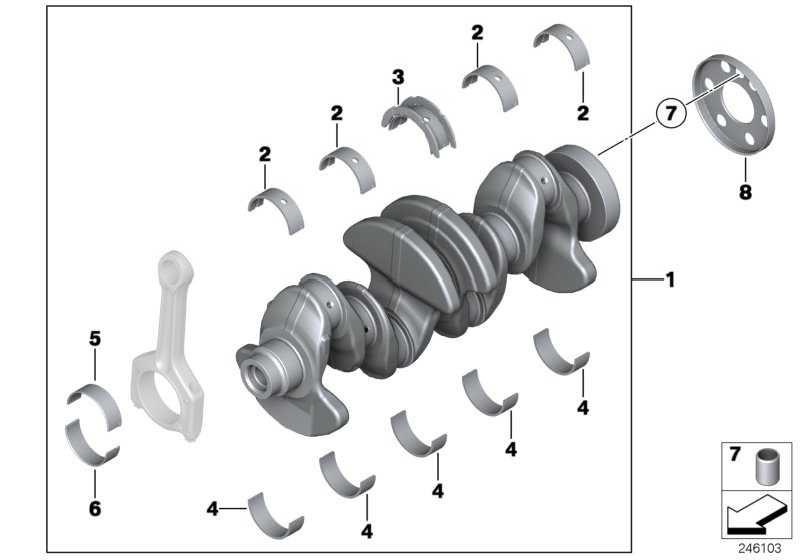 Austausch Kurbelwelle mit Lagerschalen  1er 3er 4er 5er X1 X3 Z4  (11212212762)