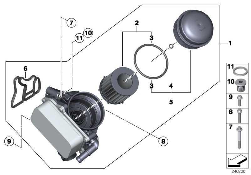 Ölfilterdeckel  3er 5er X1 X3 Z4  (11427611388)
