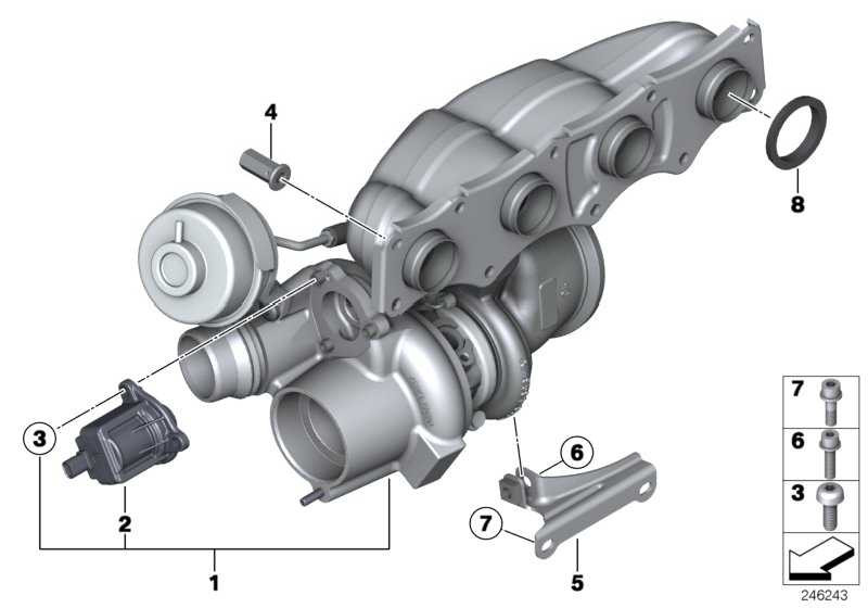 Austausch Turbolader  1er 3er 5er X1 X3 Z4  (11657635803)