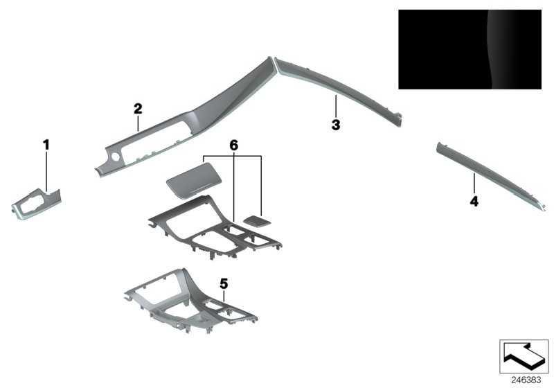 Holzblende Instrumententafel rechts PIANOLACK SW    5er  (51457974743)
