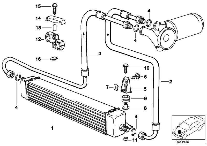 Ölkühlerleitung Vorlauf  3er  (17212242142)