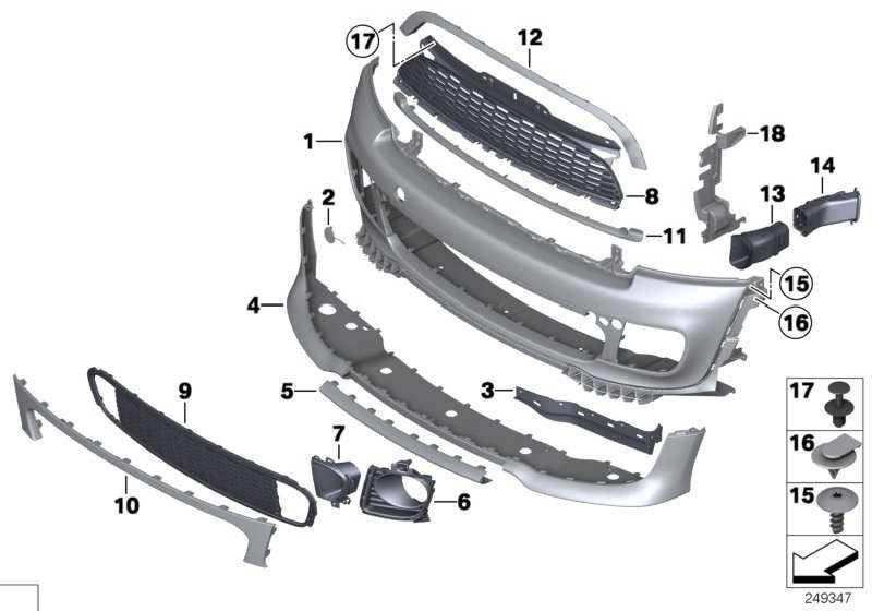 Verkleidung Stossfänger grundiert vorn  MINI  (51112759494)