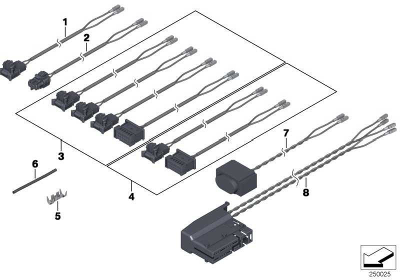 Rep.-Kabel Airbag Seitensensor  X3 X4  (61119283481)