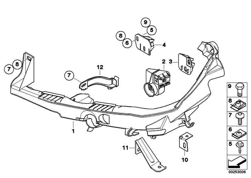 Arm Scheinwerfer links  3er  (51647138401)