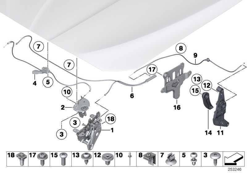 Schloss Frontklappe aktiv rechts  5er 6er 7er Z4  (51237184442)