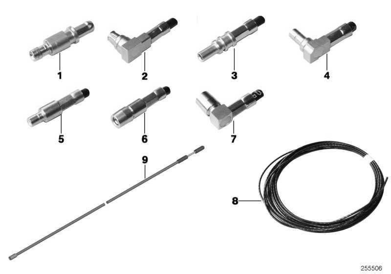 Rep.-Leitung Bluetooth Kabelantenne L= 1695MM 7er X1 5er X3 6er 3er 4er X5 X4 X6 2er  (61119278968)
