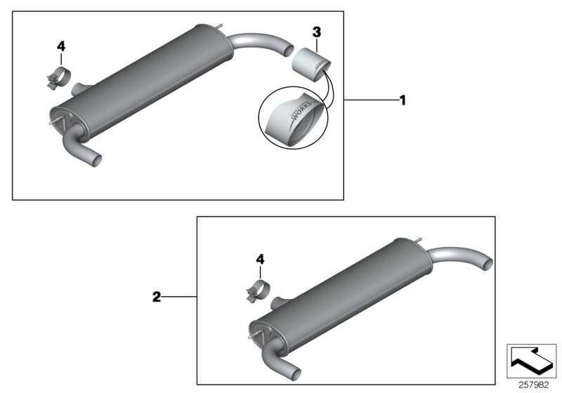 Schalldämpfer-System COOPER S JCW MINI  (18302239423)