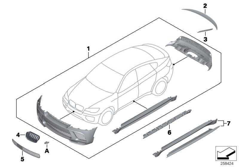 Performance Aerodynamik-Paket grund.  X6  (51192162475)