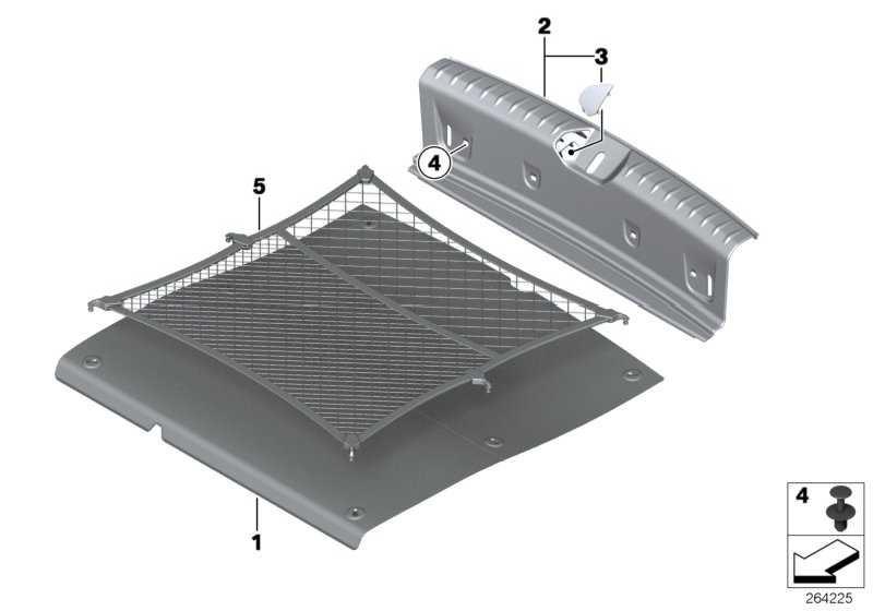 Einlegeboden Gepäckraum  1er  (51477221880)