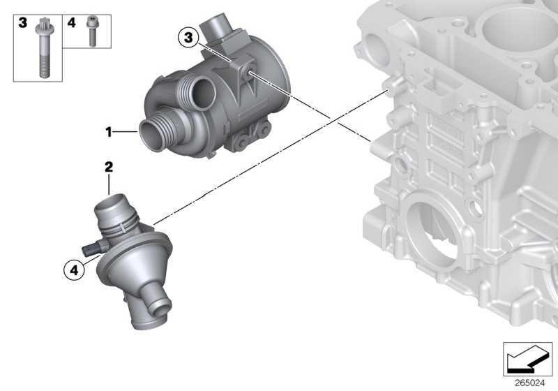 Kühlmittelpumpe elektrisch  1er 3er 4er 5er X1 X3 Z4  (11517597715)