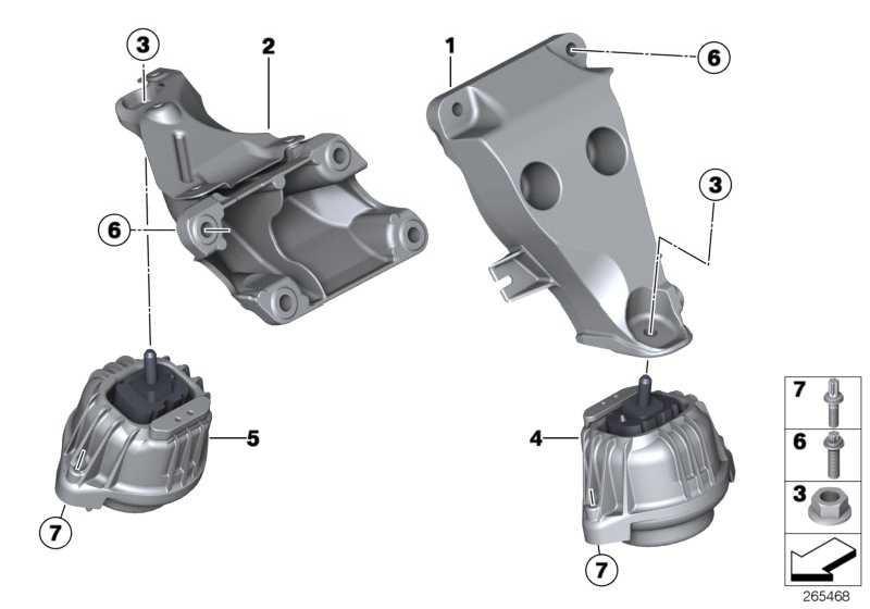 Motortragbock rechts  3er 4er X3  (22116784824)