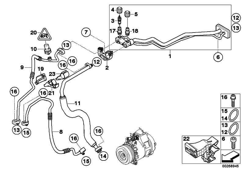 Druckleitung Kompressor-Kondensator M57N2           X5 X6  (64536988880)